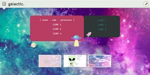 galactic | f2u custom box code by baekmii