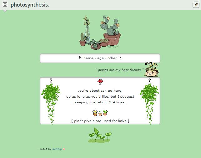 photosynthesis | f2u custom box code by sunngi