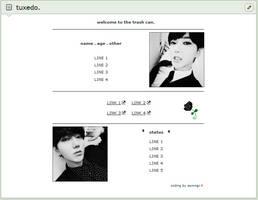 tuxedo | f2u custom box code by baekmii