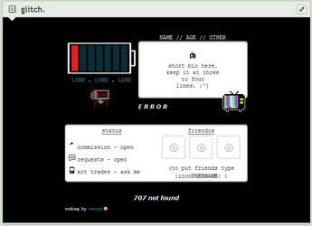 glitch | f2u custom box code