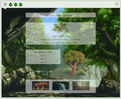 evergreen | f2u custom box background
