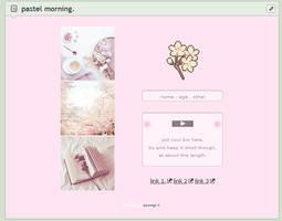 pastel morning // f2u custom box code by baekmii