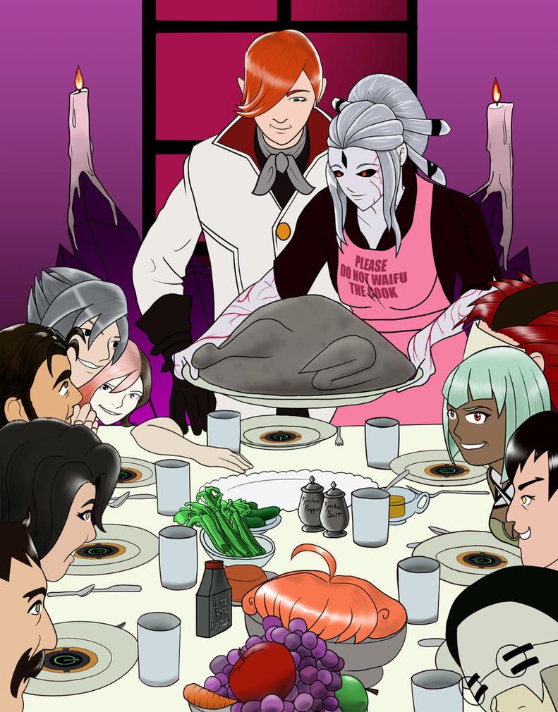 RWBY: Villain thanksgiving (late) by crashnburnett