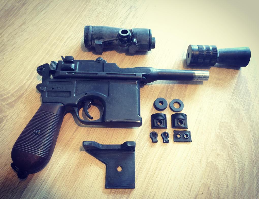 DL-44 blaster WiP by MandalShArK