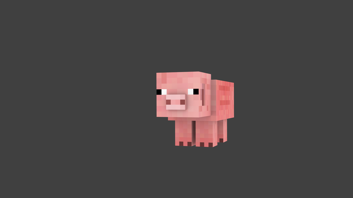 Download Wallpaper Minecraft Simple - simple_minecraft_pig_wallpaper__by_thepokedfluff-d615xj2  Image_282741.png