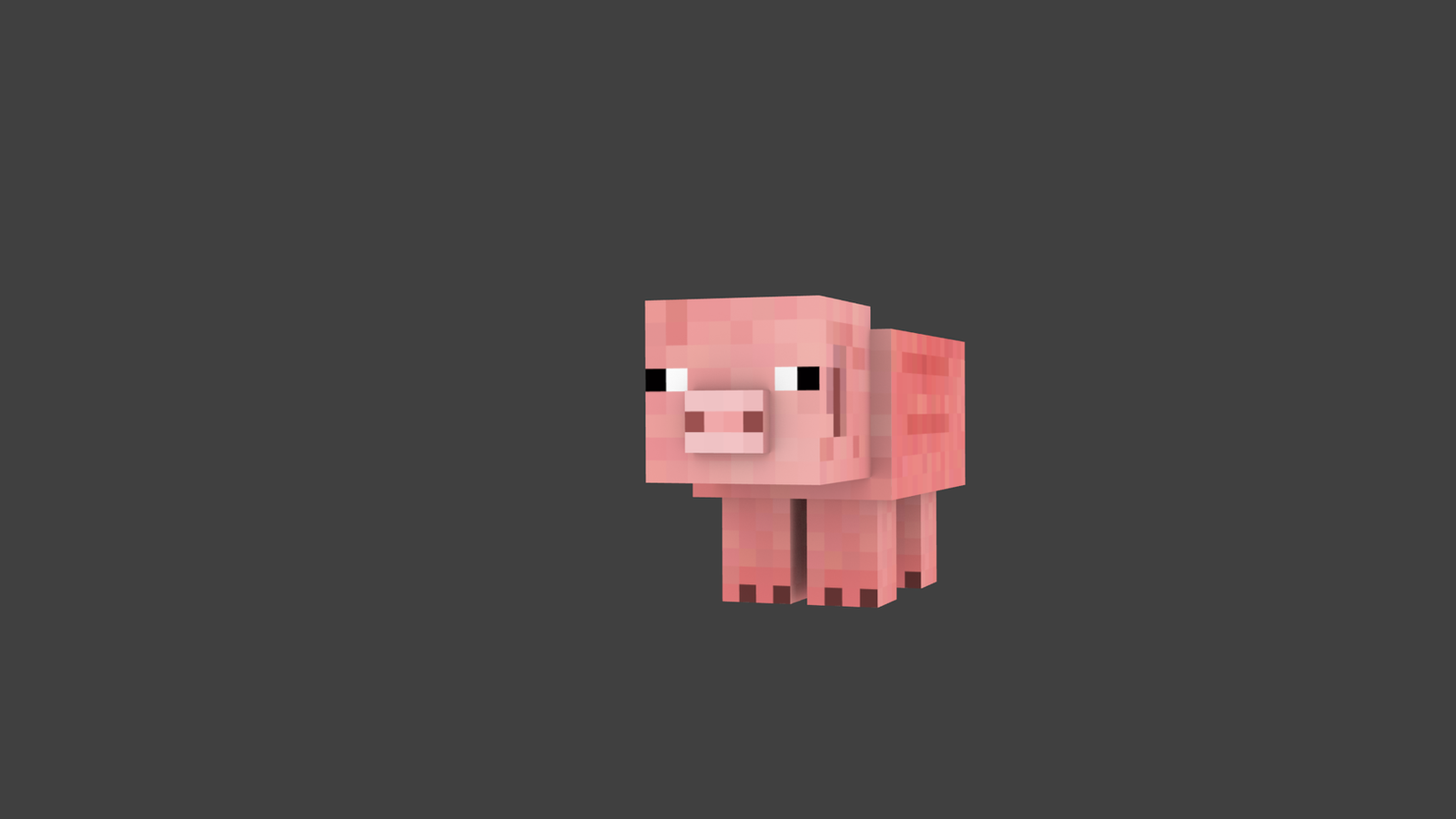 Simple Minecraft Pig Wallpaper By ThePokedFluff