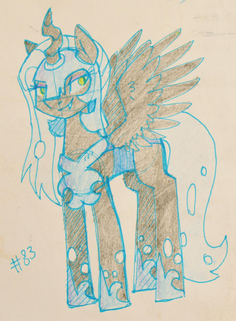 Nyinx De Lune drawn By Reporter Derpy by NyinxDeLune
