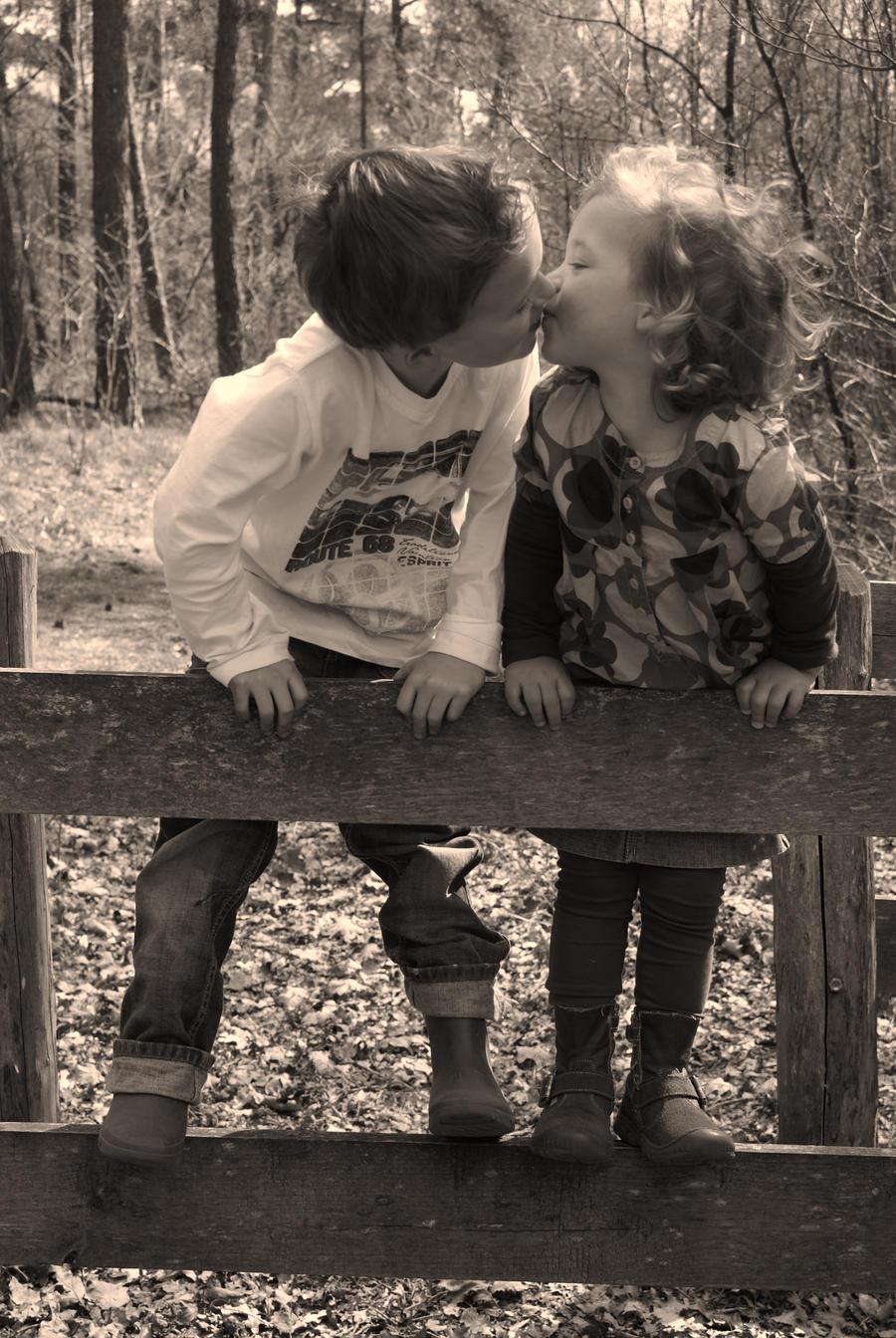 Little Lovers on the Fence by LuffieJJ on DeviantArt