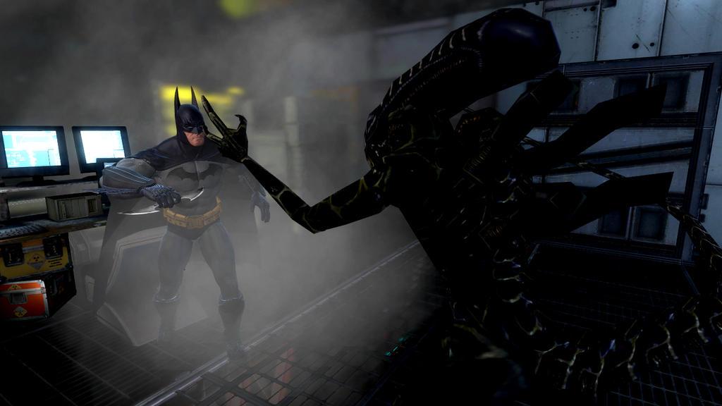 batman vs alien by - photo #1