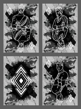 Playing Card Design - Diamond Suit (mockup)
