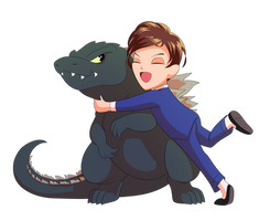 Davey And Godzilla
