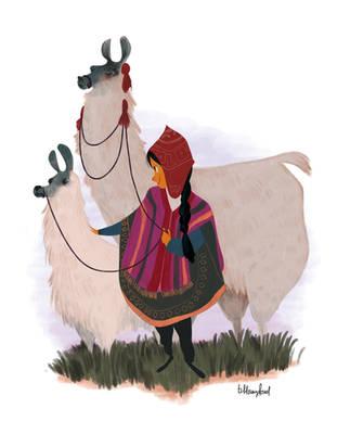 the peruvian girl by atofu