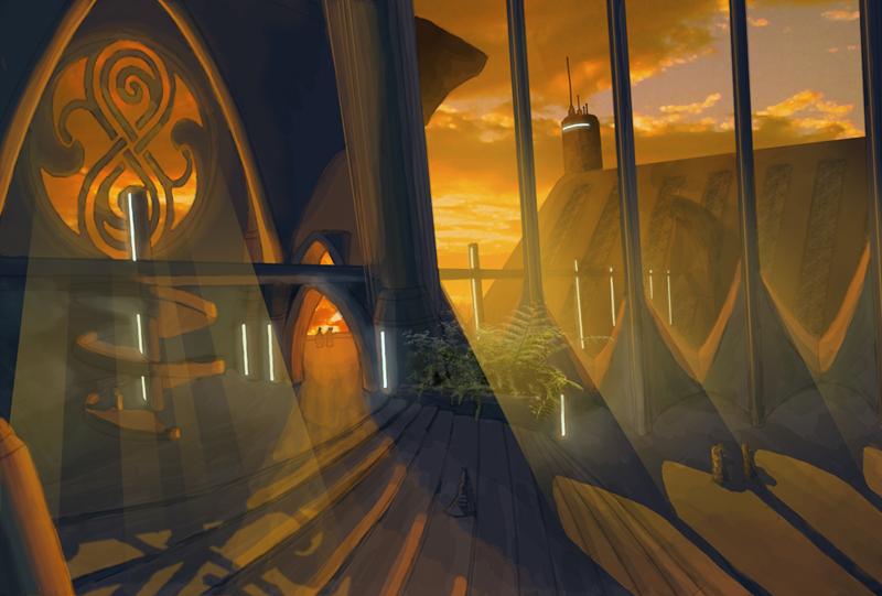 Gallifrey environment sketch by gntlemanartist