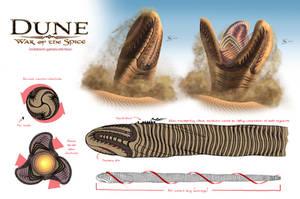 Giant Sandworm by gntlemanartist