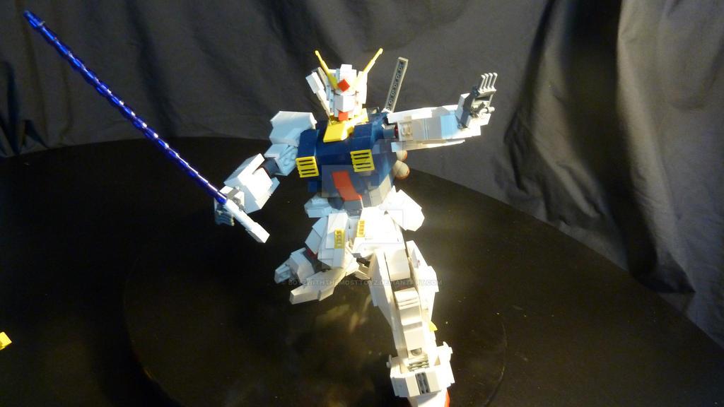 Gundam RX 178 MK II AEUG Colours (Lego) by boyzwiththemosttoyz