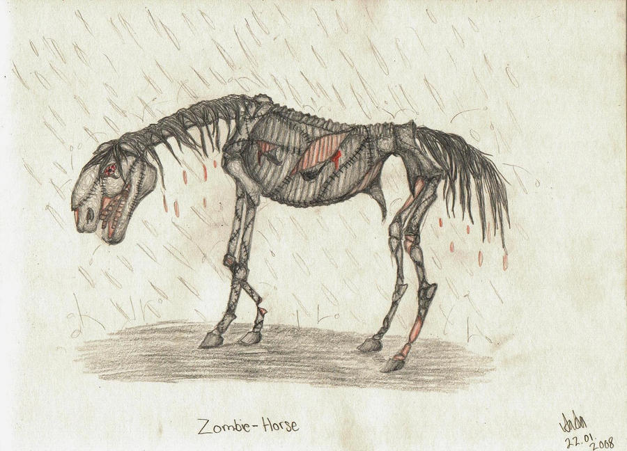 Zombie-Horse 2 by It-is-Madness on deviantART