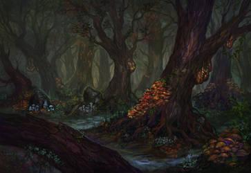 Gloomy swamp