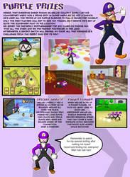 Waluigi in Super Mario 64 DS