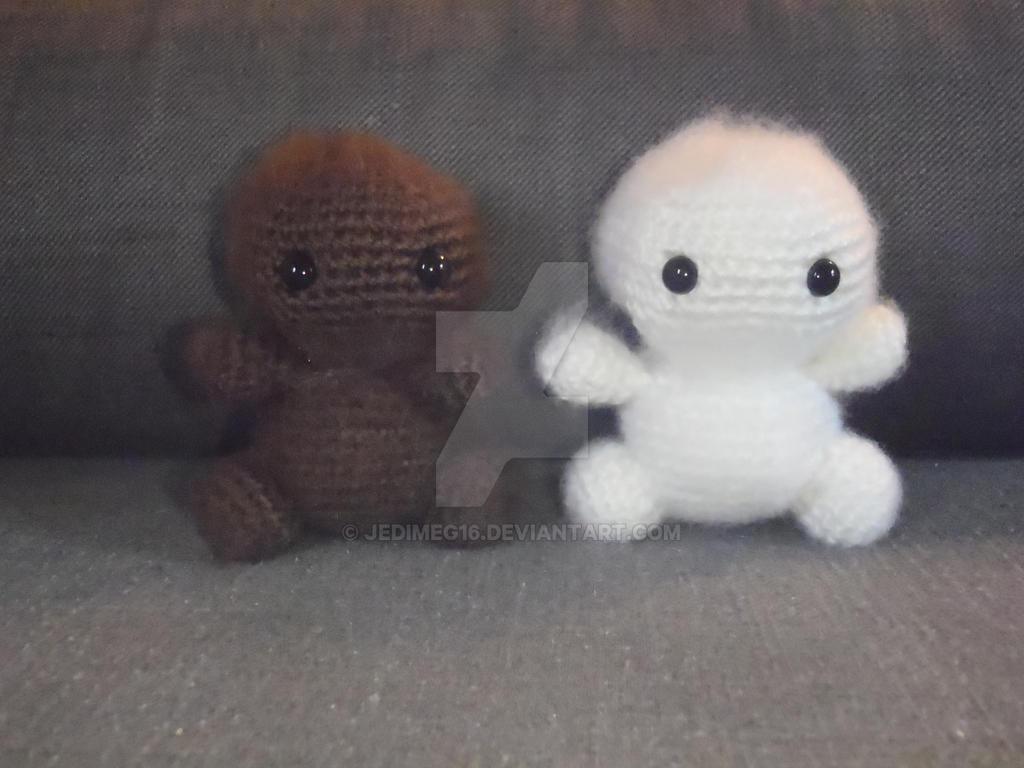 Baby Big Foot and Baby Yeti by jedimeg16