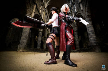 Lady and Dante - Devil May Cry 1 by kaihansen3004