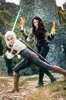 Yennefer and Ciri - The Witcher 3 by kaihansen3004