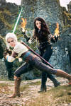 Yennefer and Ciri - The Witcher 3