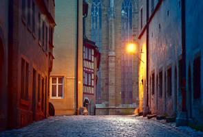 Morning in Rothenburg ob der Tauber III by mannromann