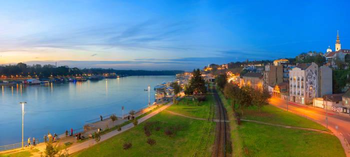 Twilight in Belgrade