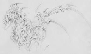 Sketch metal dragon