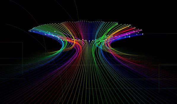 light Optic fiber Rainbow