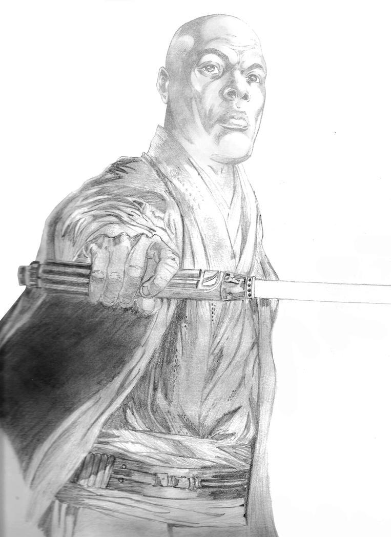 how to draw mace windu