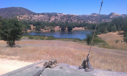 Lake Somewhere in California by Phantom12B
