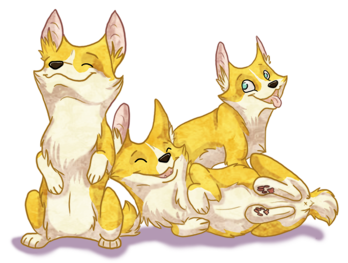 Corgis by CaliberArts