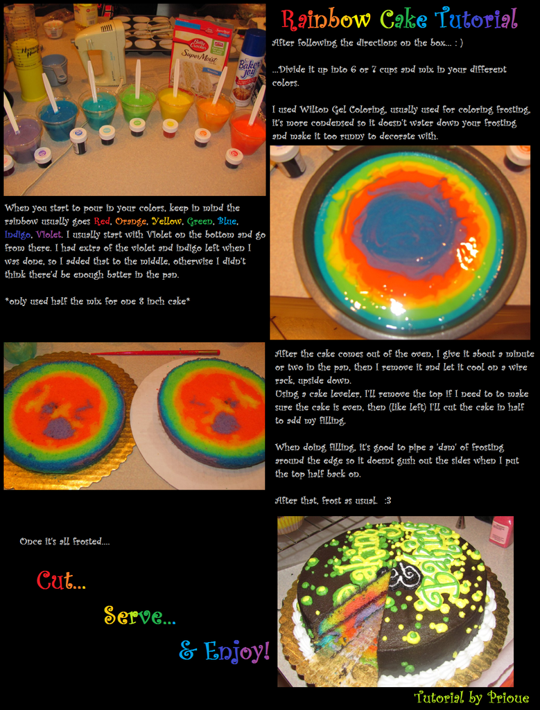 how to make rainbow ball cake