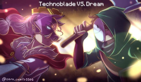 Technoblade VS. Dream // Fanart