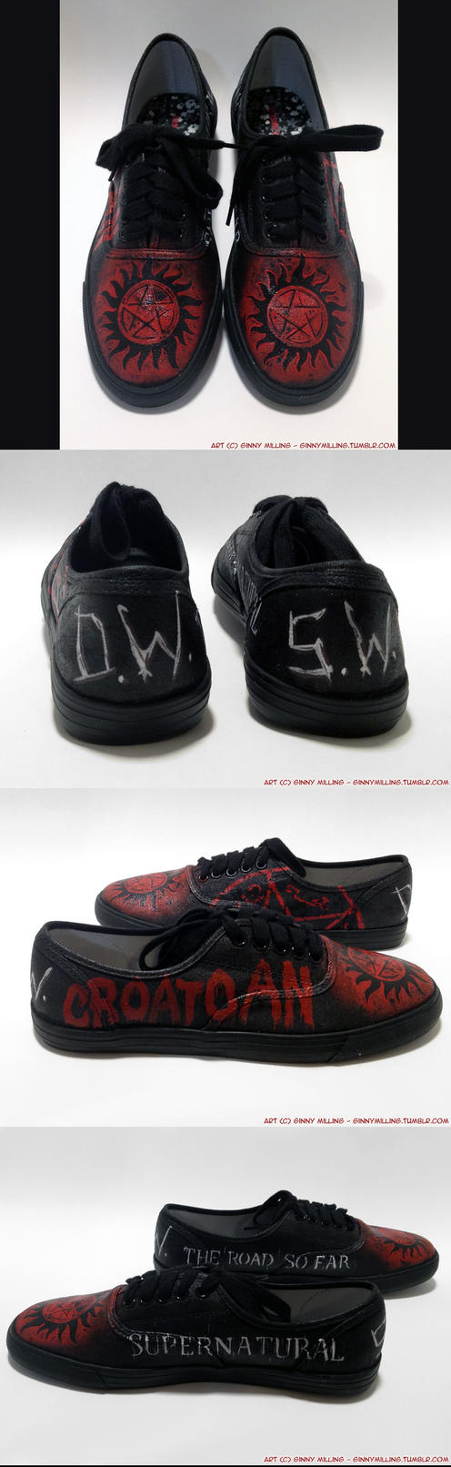Supernatural Custom Shoes (Sneakers) (SOLD!) by GinnyMilling