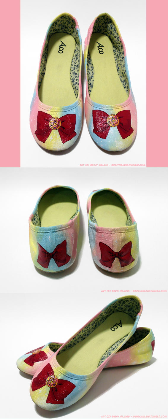 Sailor Moon Custom Flats (Size 10) (FOR SALE) by GinnyMilling
