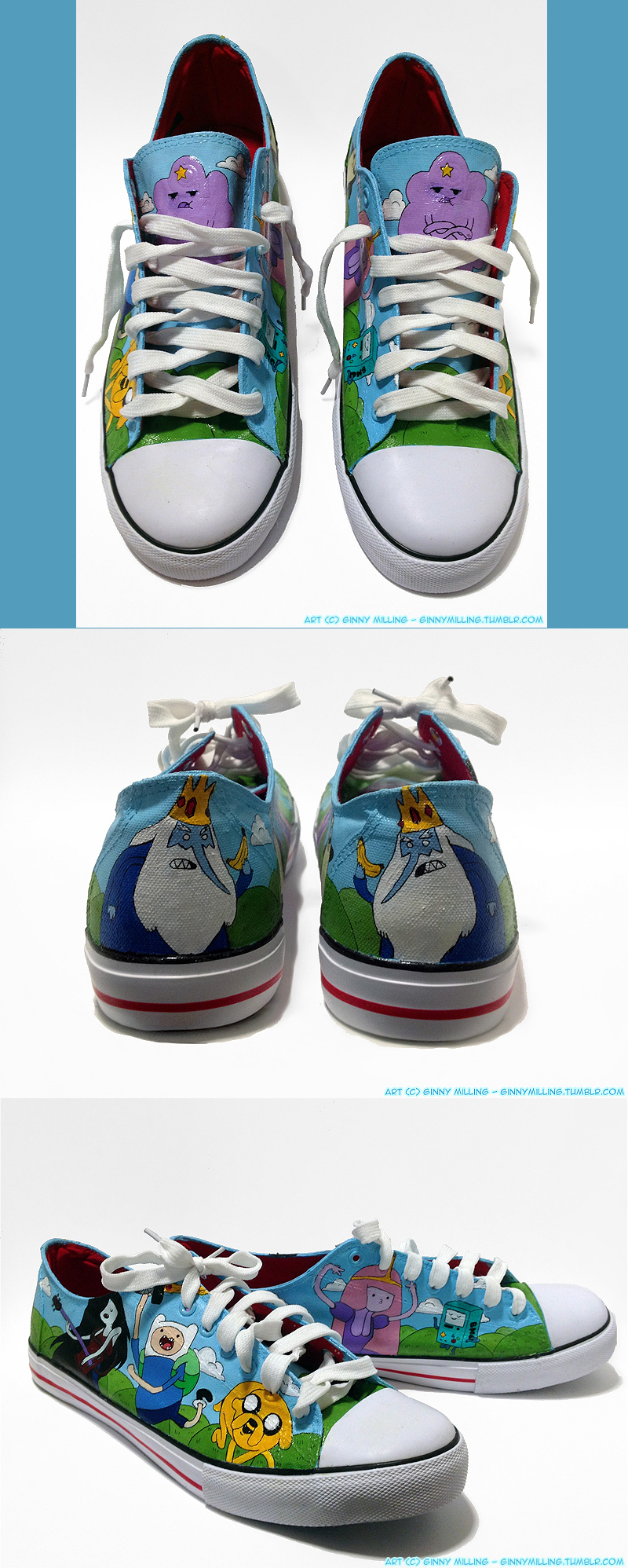Adventure Time Custom Shoes (Size 12) (FOR SALE) by GinnyMilling