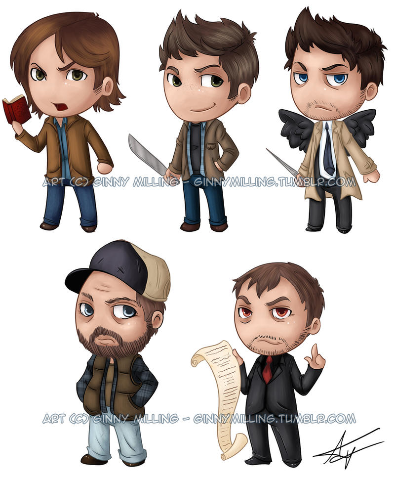 Supernatural Cuties by GinnyMilling