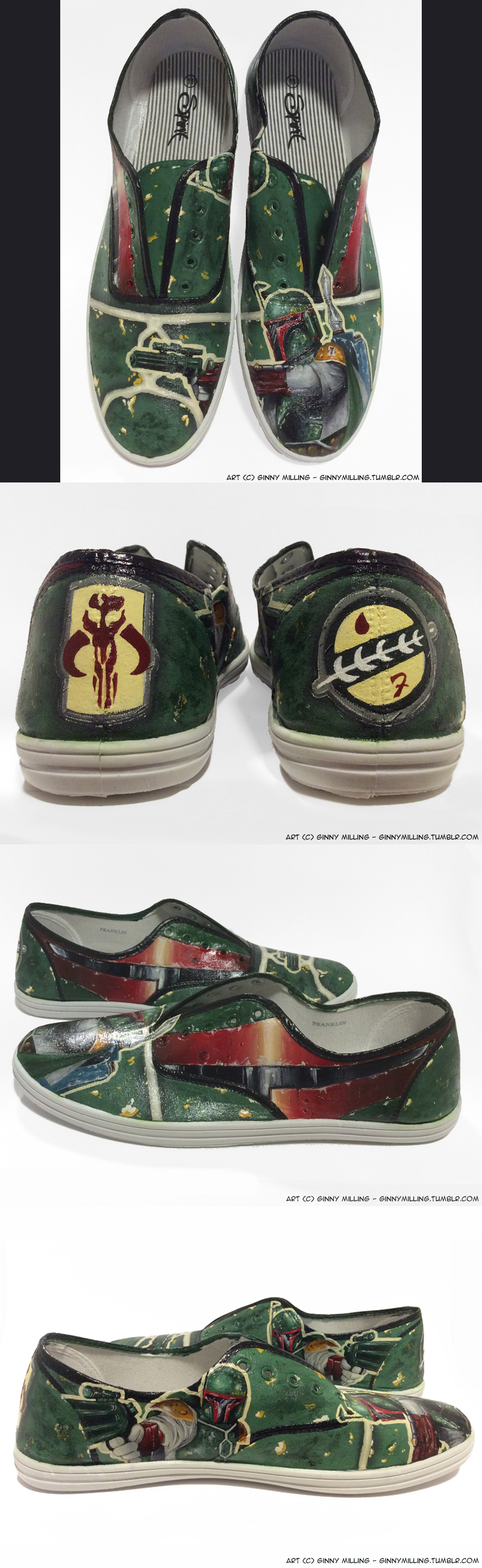 Custom Boba Fett Shoes Commission by GinnyMilling