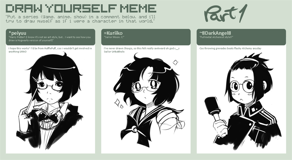 how to draw your self as anime
