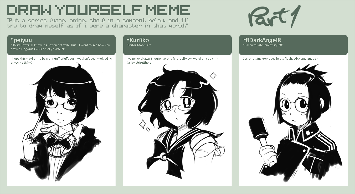 Draw Yourself MeMe P By Hyunit On DeviantArt - Hairstyle drawing meme