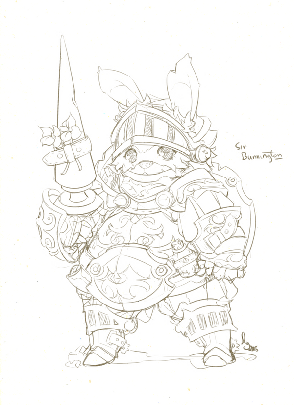 Sir Bunnington, the Worgslayer by hyunit