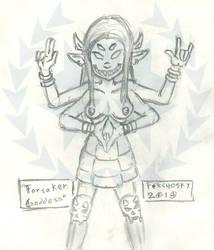 The Forsaken Goddess (Sketch) by Ferchosky