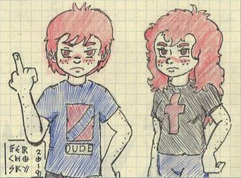 Cross Siblings by Ferchosky