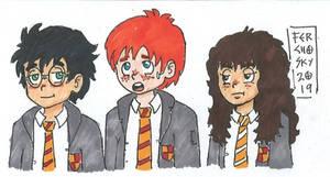 Hogwarts' Golden Trio