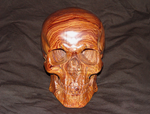 Carved wood skull in Cocobolo