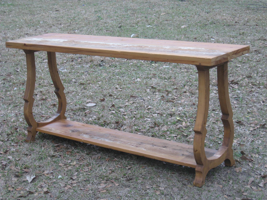 Console Table In Reclaimed Cypress And Spruce By WaterwalkerWoodworks ...