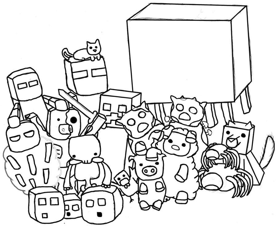 Minecraft Mobs By Erohares On Deviantart