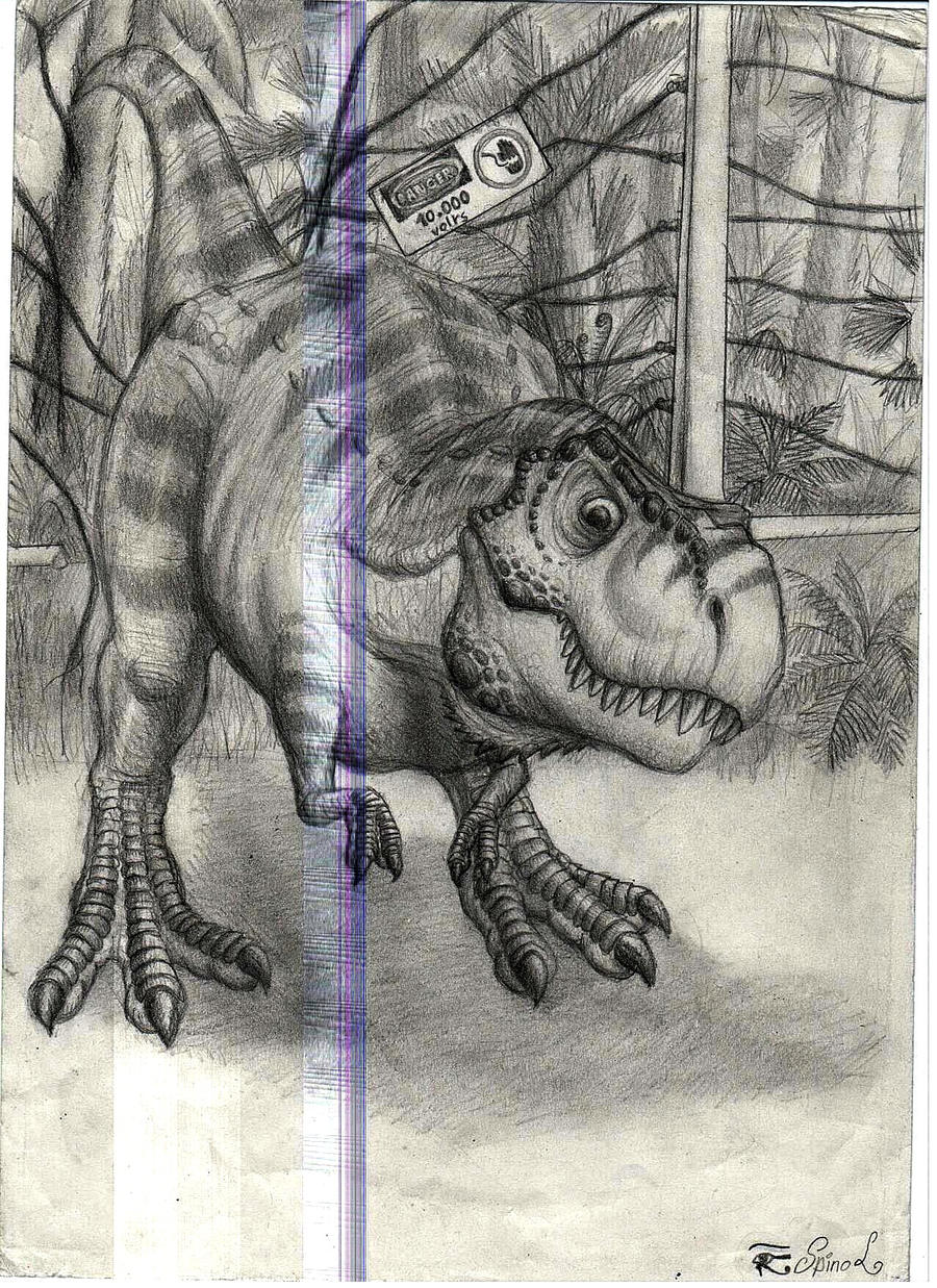 Jurassic park card 3 by chicagocubsfan24 on deviantart - Young T Rex Of Jurassic Park By Spinojp